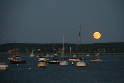 Harbor full Moon Rise 2
