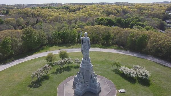 Forefathers Monument Drone Video-1