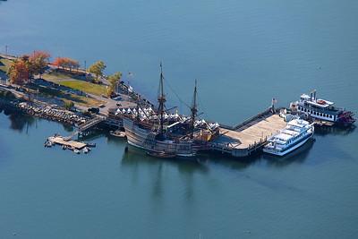 State Pier, Mayflower II, Captain John IV, Pilgrim Belle Cruises (2)