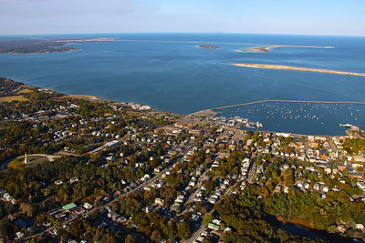 Looking Northeast over Plymouth, MA.