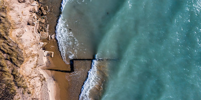 Point Betsie Shoreline Aerial