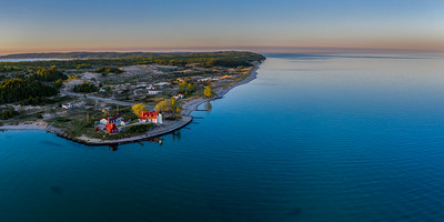 Point Betsie Sunrise Aerial