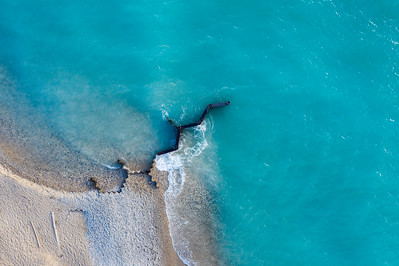 Old Breakwall from Above