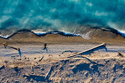 Point Betsie Beach Aerial in Spring