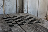 A chess table inside one to the bulldings at Fort Lincoln.