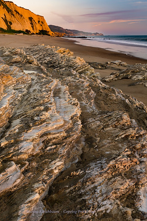 Gold and Pink at Sculptured Beach Point Reyes