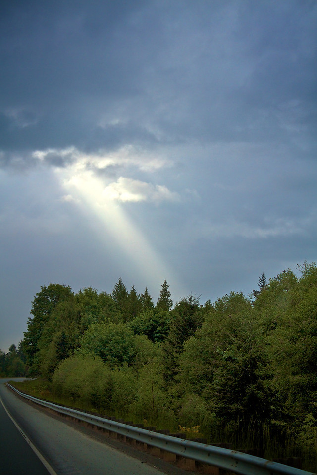 The sun desperately tries to burst through the clouds... it is not always successful.