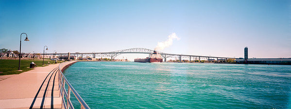 Freighter and Blue Water Bridge