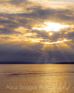 Sunset Over Port Townsend