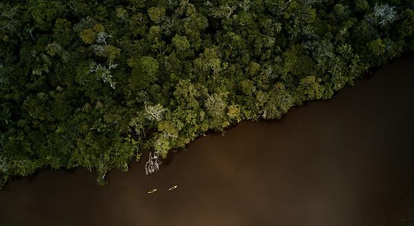 Kayaking in the Brazilian Amazon