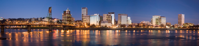 Portland Oregon Morning Skyline