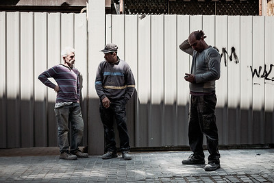 Construction workers in Porto