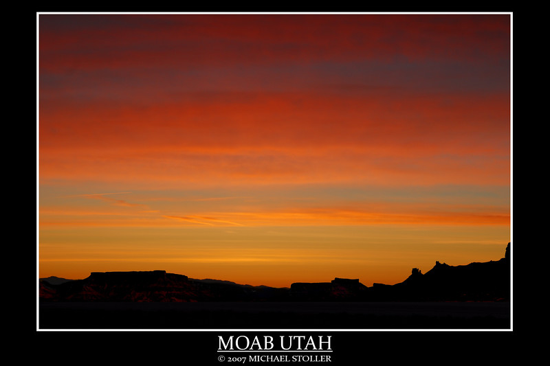 Moab Utah, sunrise