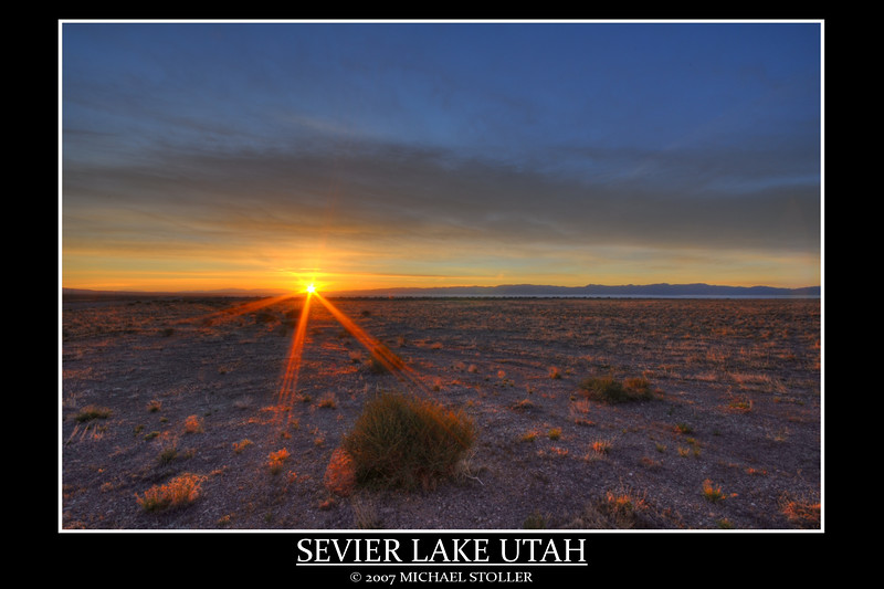 Sevier Lake Utah sunrise. Seven Exposures.
