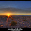 Sevier Lake Utah sunrise. Seven Exposures.