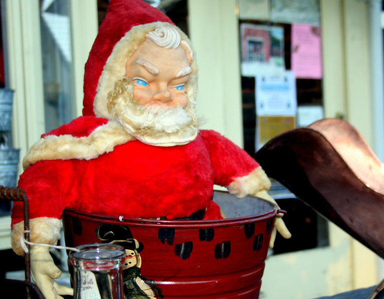 Santa, at Antiques and Tools