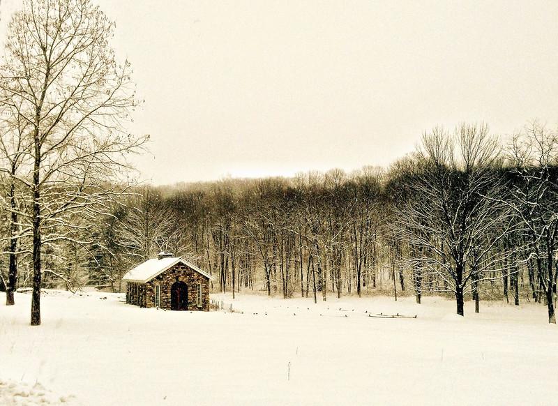 Turtle Barn in Winter, Pound Ridge