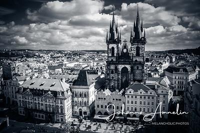 Prague from a high tower