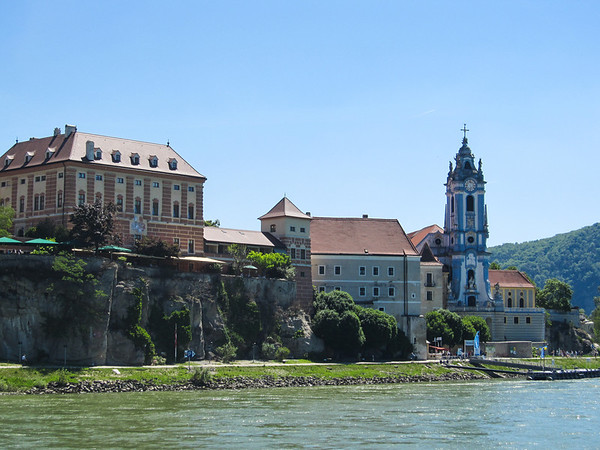 Stiftskirche along the Danube, before arriving in Vienna
