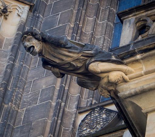 gargoyle at St. Vitus Cathedral