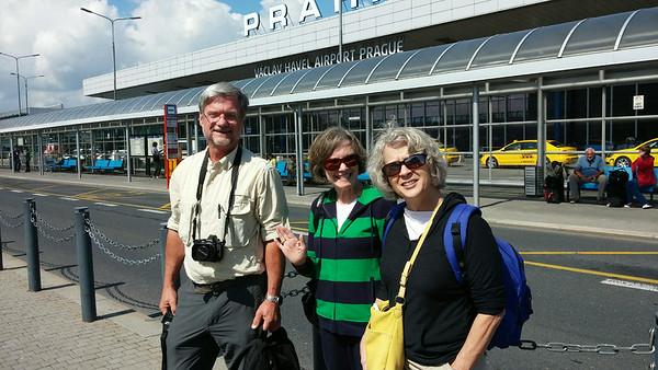 Prague Airport-Me, Debbie, Hannah