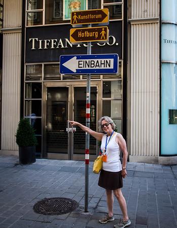 "Is this Einbahn Street? (Einbahn means ""one way""). It's a long story."