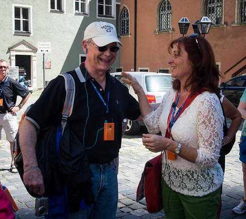 Vienna guide using Joe as a prop