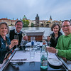 Scenic dinner at the Charles Bridge