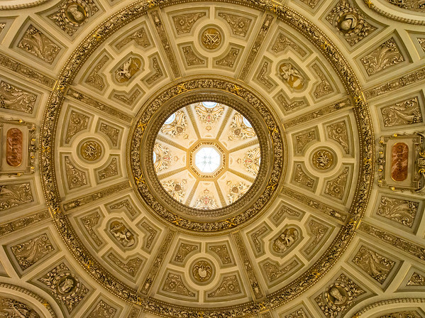 Ceiling and skylight at the Museum of Fine Art in Vienna