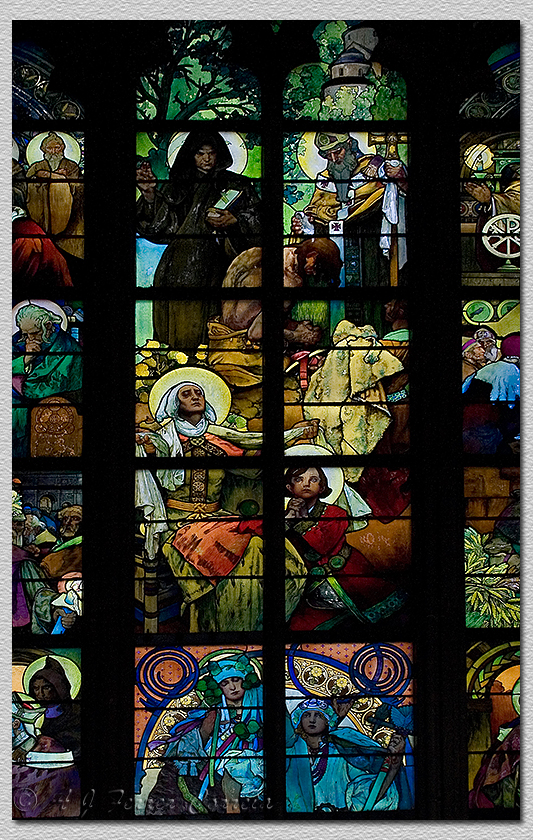 Catedral - vitral de Mucha Cathedral - stained glass by Mucha
