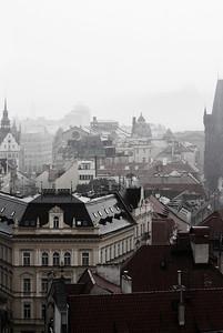Rainy town, Prauge
