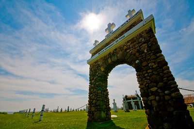 Entrance to a small seaside cemetery