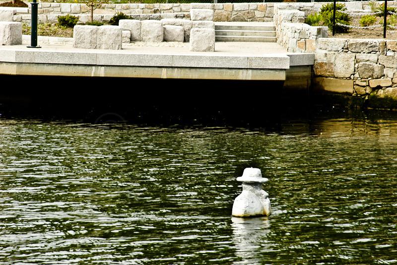 Sculpture in River, Providence Riverwalk