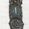 Very ornate clock in the square.