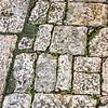 Stones in the square.