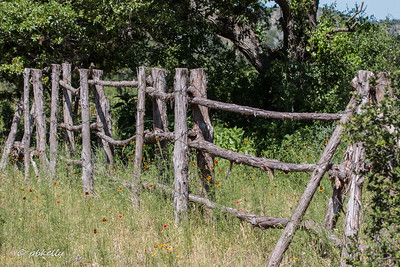 Loved the construction of this fence along the side of the road.