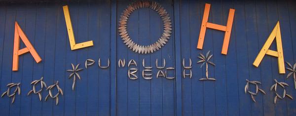 Punalu'u Black Sand Beach-Jul 2013