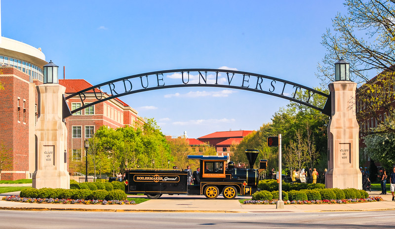 Boilermaker Special under the Gateway to the Future Arch