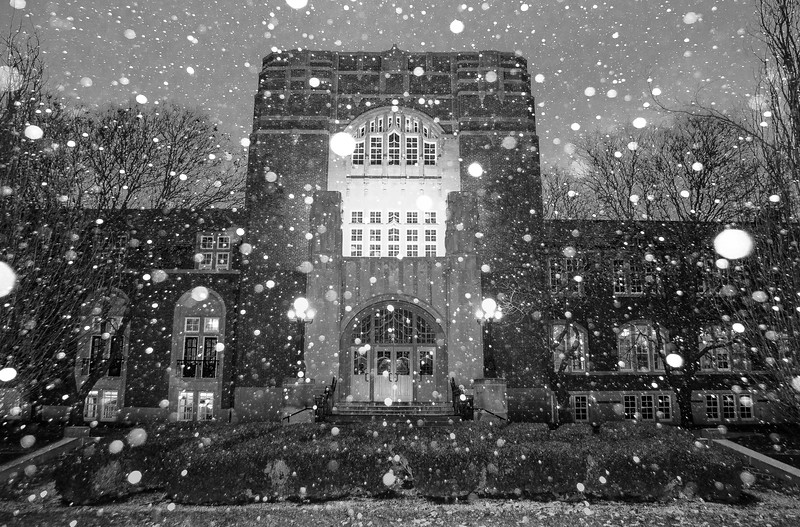 Purdue Memorial Union Snowglobe - January 26th, 2017 - Black/White