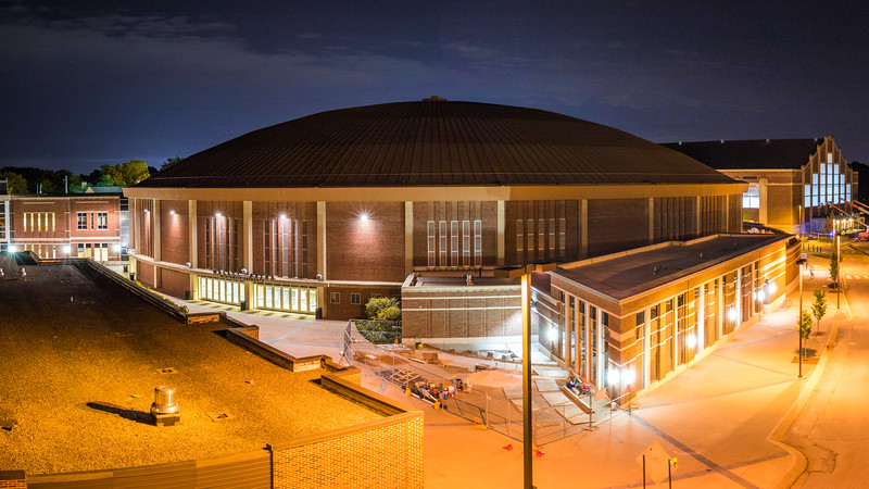 Mackey Arena from the top of the stairs at Ross–Ade Stadium. @CanonUSA #EOS #7DMKII #Canon #EF 18-135mm f/3.5-5.6 IS STM 18mm | 13sec | f/8 | ISO 100 4-Shot Panorama