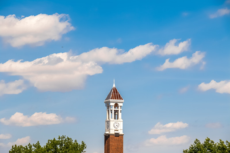 Bell Tower on a partly cloudy day.
