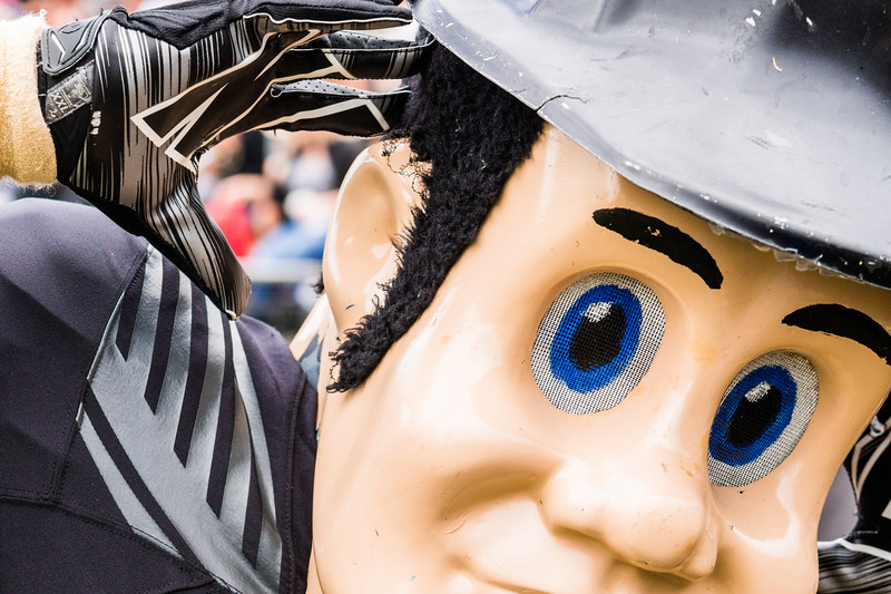 Purdue Pete, up close.