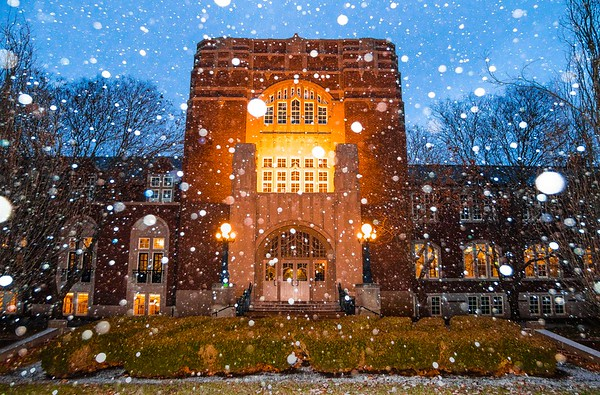 Purdue Memorial Union Snowglobe - January 26th, 2017 - Color
