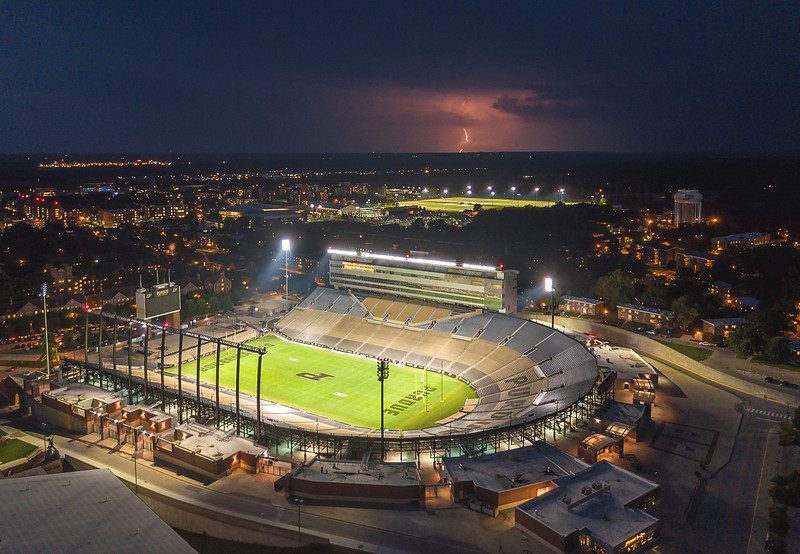 Ross Ade Stadium Lightning