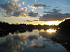 Sunset over the Thames taken from Putney Bridge.