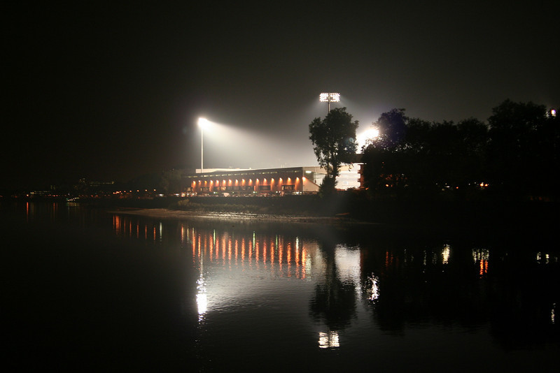 Craven Cottage next to the Thames, during a home game in October.