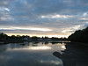 Looking off Putney Bridge along the Embankment one evening.