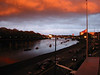 Looking over Thames Rowing Club down towards Putney Bridge from the balcony at Imperial College Boathouse. No photoshop, it was a very wierd looking evening.