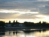 Looking off Putney Bridge at the boat clubs along the Embankment one evening.