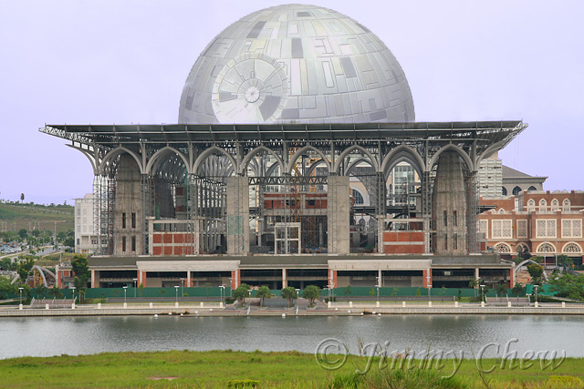 """Added a little bit of the sky over the Death Star to create distance. Story found in my <a href=""""http://oddstuff.multiply.com/photos/album/9"""" target=""""_blank"""">Multiply</a> (new window) blog."""
